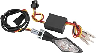 BikeMaster Mini-LED Motorcycle Front Turn Signals with Resistors