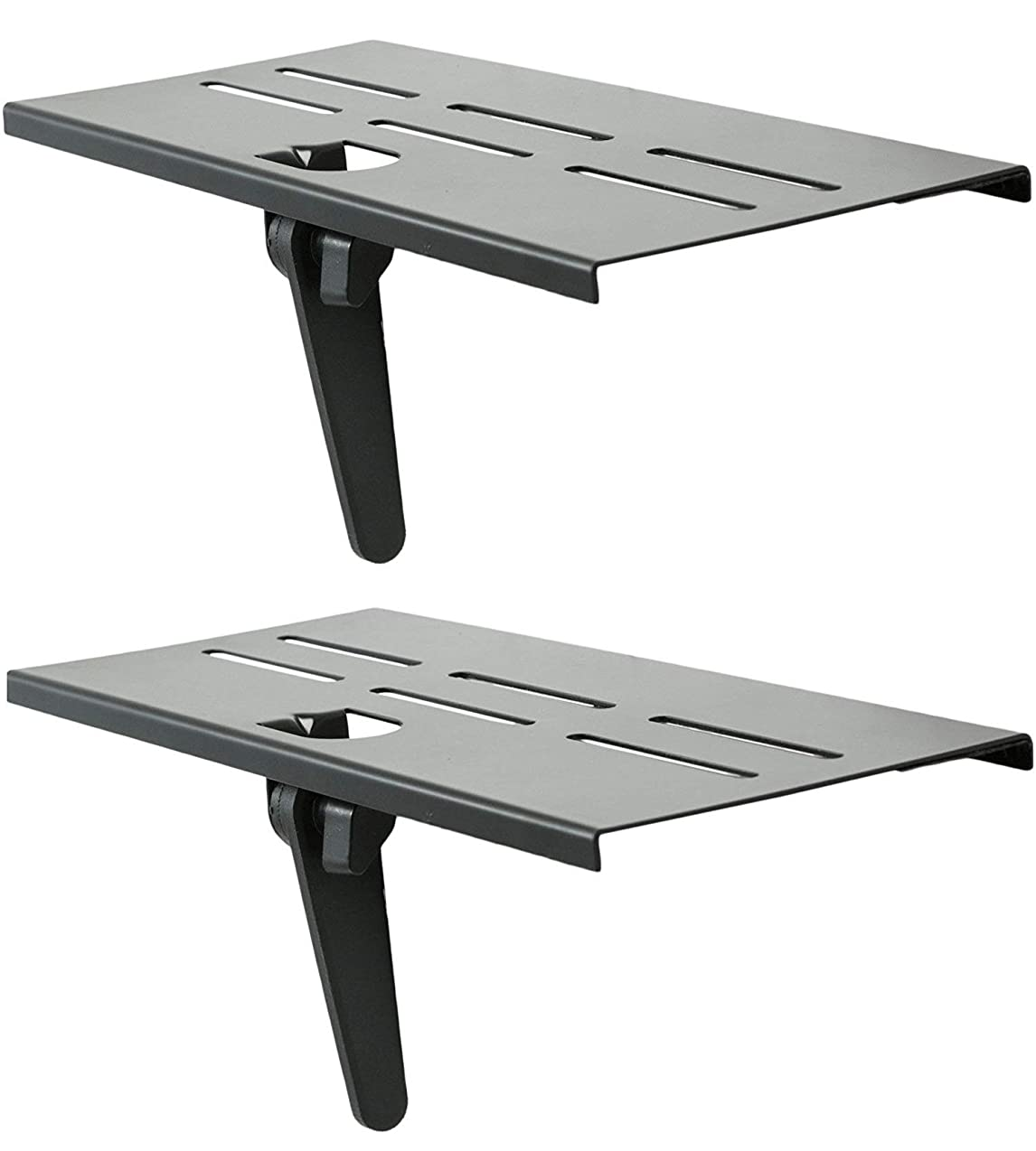 Mount Plus MP-APM-05-01 Top Shelf TV Mounting Bracket 12-inch Wide Platform | Holds Speaker, Streaming Device, Game Console, and More (2 Pack) rcqmponvkymn0133