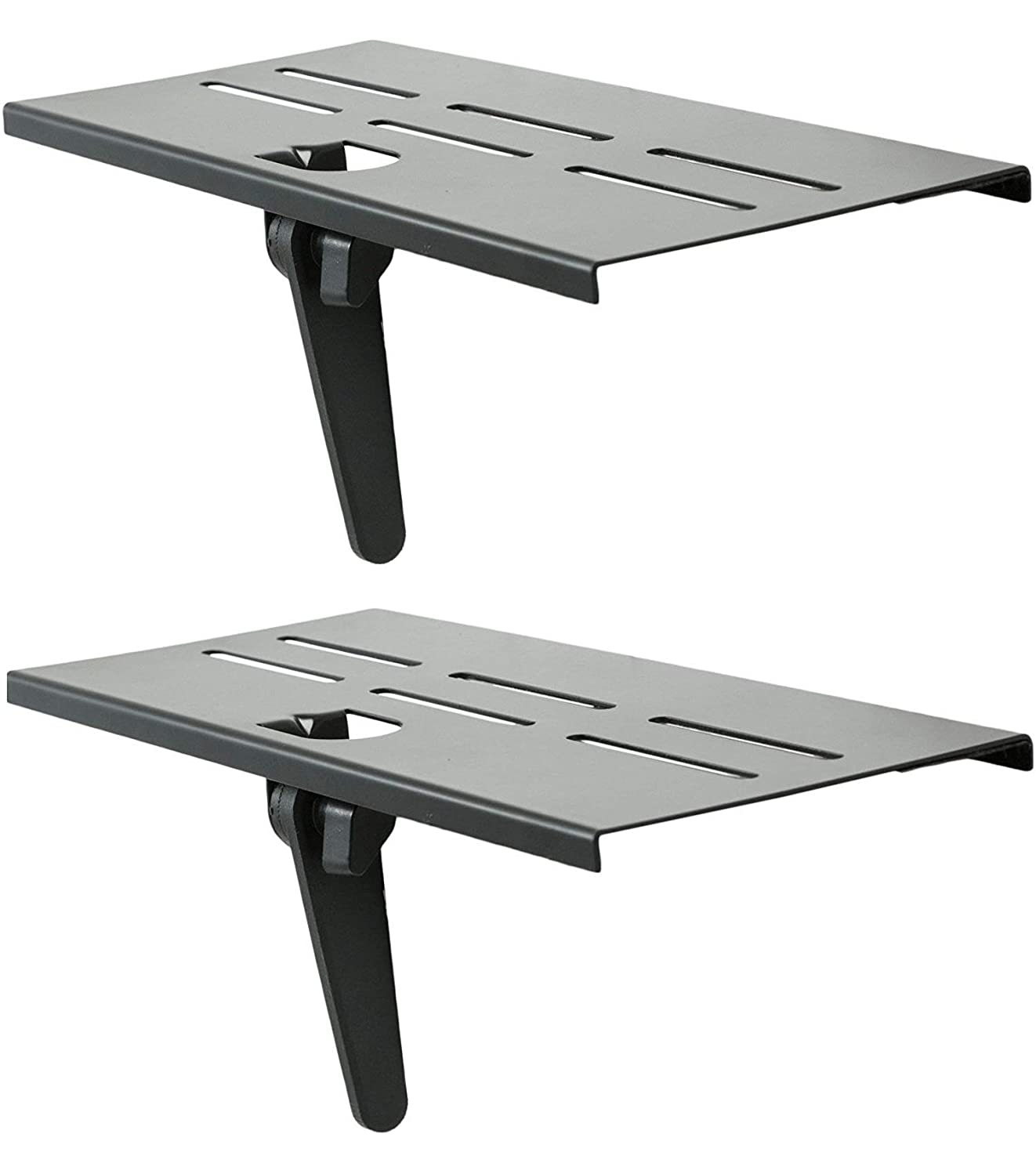 Mount Plus MP-APM-05-01 Top Shelf TV Mounting Bracket 12-inch Wide Platform | Holds Speaker, Streaming Device, Game Console, and More (2 Pack)