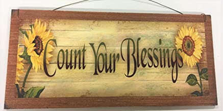 The Little Store Of Home Decor Sunflower Count Your Blessings Wooden Wall Art Sign Country Fall