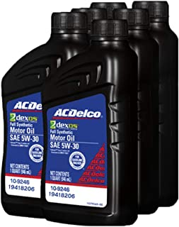 ACDelco 19418206 GM Original Equipment dexos1 5W-30 Full Synthetic Motor Oil, 9.46d-1 liters, 6 Pack