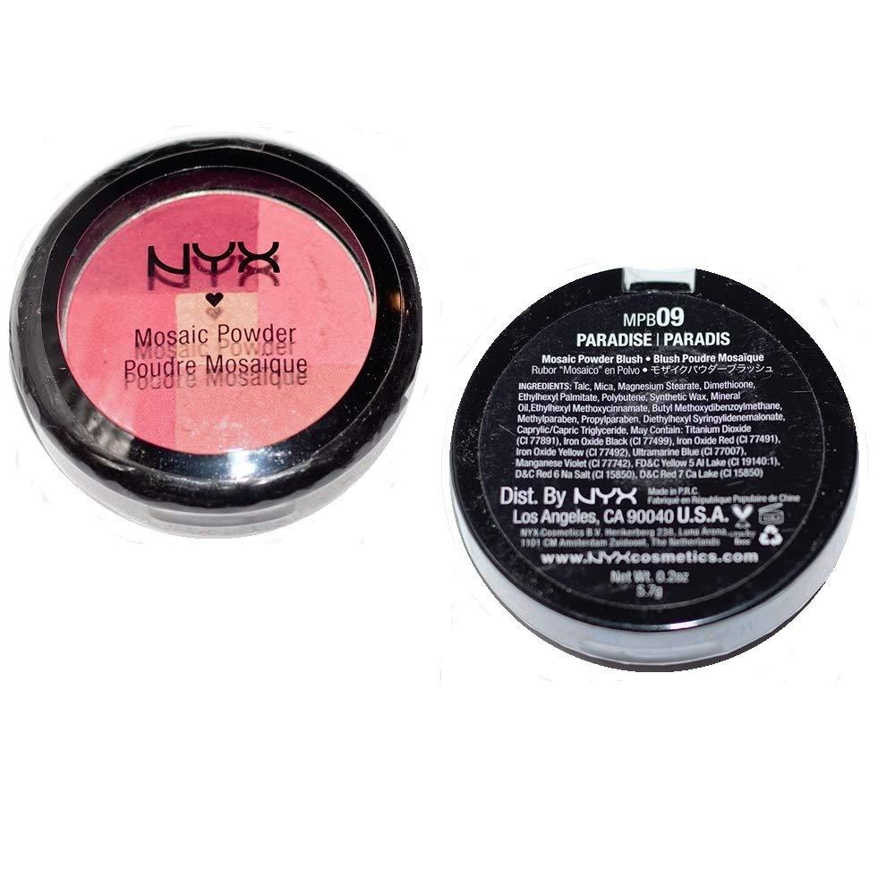 Pack of Free 5 ☆ popular shipping New 2 NYX Mosaic MPB09 Blush PARADISE Powder