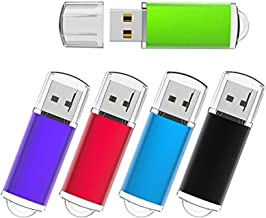 5pcs 32GB USB Flash Drives Memory Sticks USB Zip Jump Pen Thumb Drive 5 Colors