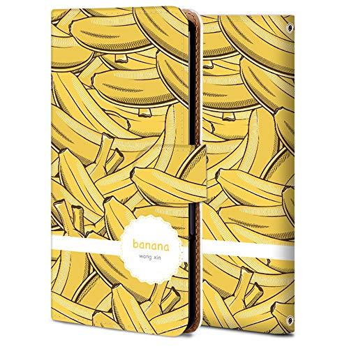 AQUOS R3 手帳 ケース SH-04L 保護 カバー SHV44 専用 耐衝撃 カメラ穴 スタンド機能 高級 PUレザー R3 全面保護 横開き 軽量 薄型 WX996-果物-バナナ 食べ物 アニメ 11769