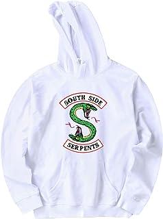 0ce8b6843a0aa Riverdale South Side Serpent Pull Femme Homme Imprimé Créatif Drôle Sweat  Unisexe Garçon Sweat-Shirt