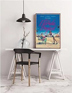 フロリダプロジェクト映画ポスターホーム壁画装飾クラシック映画キャンバスポスター-50x75cmフレームなし