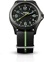 traser H3 Black/Lime P67 Officer Pro Gunmetal Watch | Textile Strap - Green