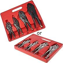 Kamonda 4 peças/conjunto de alicates de mandíbula de mão com trava de aperto 12,7 cm/17,7 cm, alicate curvo de mandíbula d...