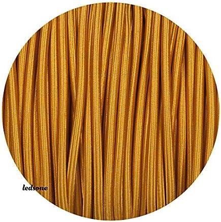 LaMorell LightDesign Section/2x0,75. C/âble /électrique tress/é avec rev/êtement en tissu Couleur jute