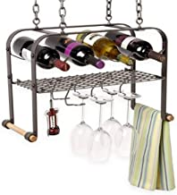 product image for Enclume Hanging Wine, Glass, and Accessories Rack, Hammered Steel