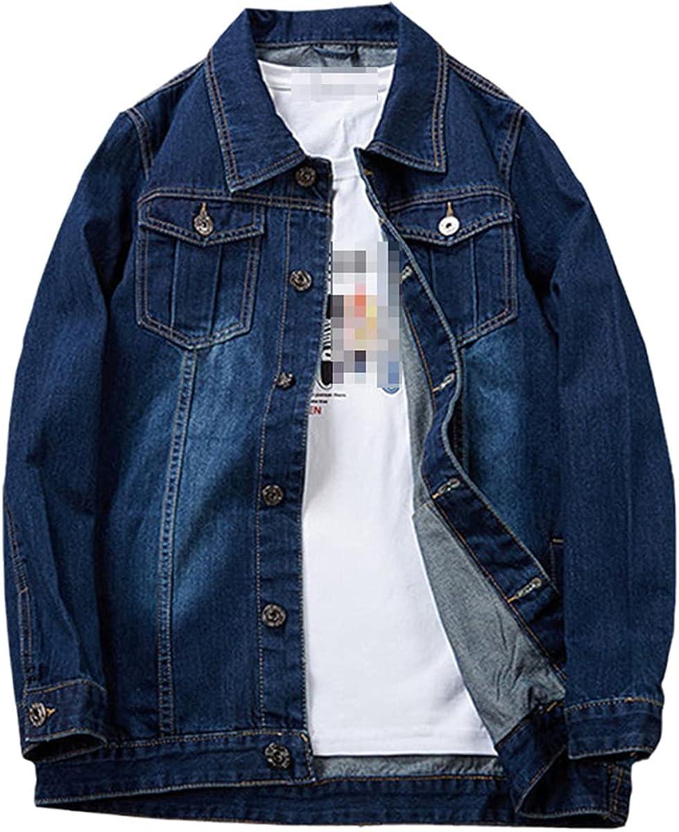Fall/Winter Men's Plus Size Denim Jacket Casual Gold Style Personalized Fashion Denim Shirt