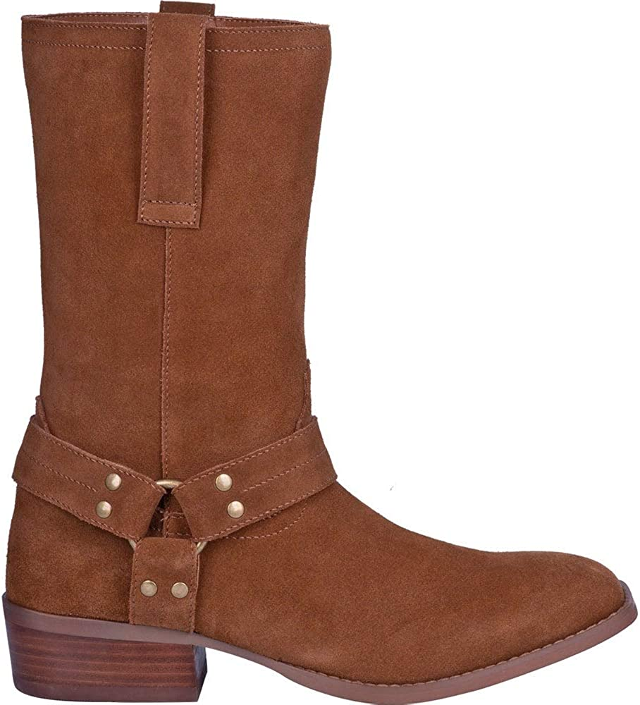 All items free shipping Dingo Mens Popular popular Buster Pull On - Calf Boots Brown Mid