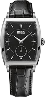 Hugo Boss Mens Quartz Watch, Analog Display and Leather Strap 1512845