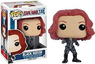 Funko Black Widow: Captain America - Civil War x POP! Marvel Vinyl Figure & 1 PET Plastic Graphical Protector Bundle [#132...