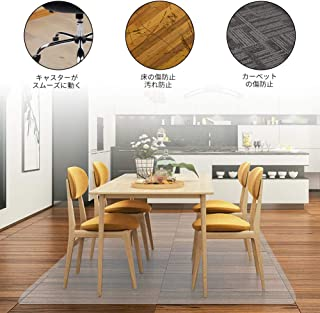 EAYHM チェア マット デスク下マット 椅子 床 マット 透明PVC 床 保護シート 机下/フロア/畳/床暖房/オフィス 椅子 きず防止 (150x190cm x1.5mm)