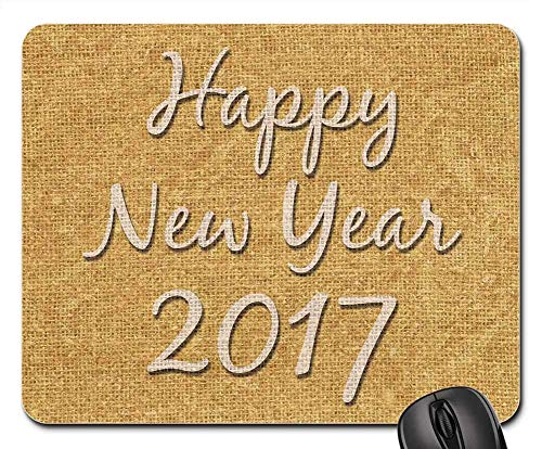 Mouse Pad - Happy New Year Celebration Holiday 2017 2 Non-Slip Mouse Pad