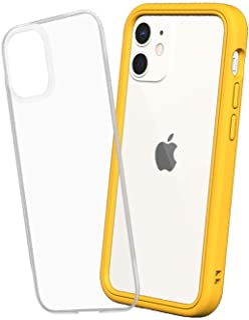 RhinoShield [iPhone 12 Mini] Mod NX耐衝撃ケース - 通常背面ケースとバンパーケースの使い分けが可能 - イエロー