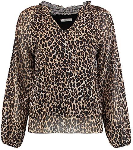 Hailys Lauren Frauen Bluse Leopard S 100% Polyester Streetwear