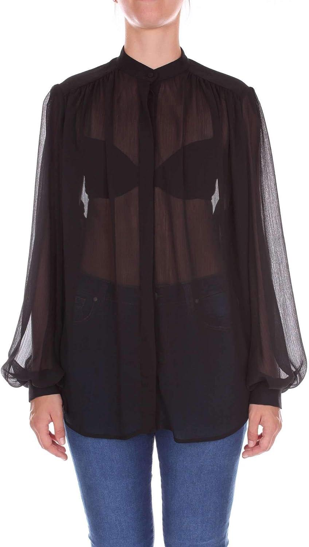 NINEMINUTES Women's COREANAblack Black Polyester Shirt