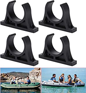 Luckycivia 2 Pairs Kayak Paddle Holder, Plastic Inflatable Boat Paddle Holder Clip, Oar Keeper for Kayaks Canoes Rowing Boats