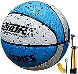 Senston Baloncesto con Bomba, Adultos Niños Cuero PU Baloncesto Talla 7, Interior Al Aire Libre Pelota Juego
