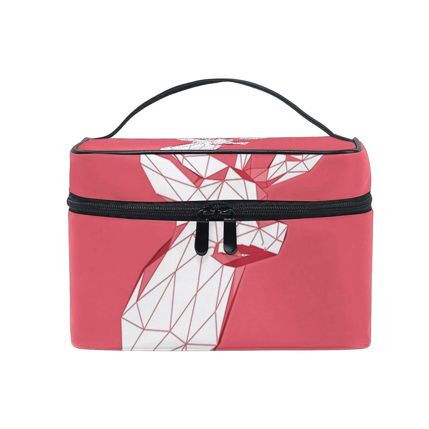 以来応答新しさメイクボックス 低ポリlowpolygon低柄 化粧ポーチ 化粧品 化粧道具 小物入れ メイクブラシバッグ 大容量 旅行用 収納ケース