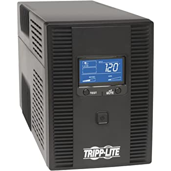 Tripp Lite OMNI1500LCDT 1500VA UPS Battery Back Up AVR LCD Display 10 Outlets 120V 810W Tel & Coax Protection USB, 3 Year Warranty & $250,000 Insurance, Black