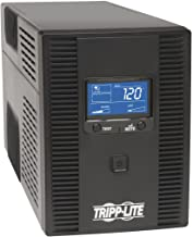 Tripp Lite 1500VA UPS Battery Back Up AVR LCD Display 10 Outlets 120V 810W Tel & Coax Protection USB, 3 Year Warranty & $250,000 Insurance (OMNI1500LCDT),Black