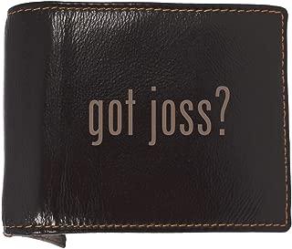 got joss? - Soft Cowhide Genuine Engraved Bifold Leather Wallet