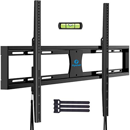 """Pipishell Low Profile Fixed TV Wall Mount Bracket Ultra Slim for Most 42-90 Inch LED, LCD OLED Plasma Flat Curved Screen TVs up to VESA 800x600mm and 132lbs, Fits 16"""", 18"""", 24"""" Studs"""