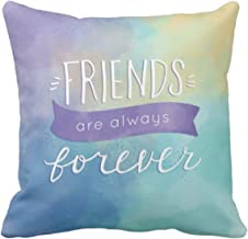 Yaya Cafe™ 16X16 inches Cushion Covers Friends are Always Forever