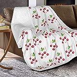 Manta de lana de cordero con estampado floral de leopardo, manta de piel de zorro plateada, manta ultrasuave para sofá, cama, hombres, mujeres y bebés