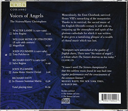 Voices of Angels The: Eton Choirbook, Vol. V