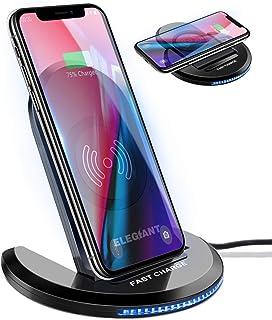 ELEGIANT 15W snabb Qi trådlös laddare, 7,5 W kompatibel med iPhone12 / 11 / SE 2 / XS / XR / X / 8, 10 W för Samsung Galax...