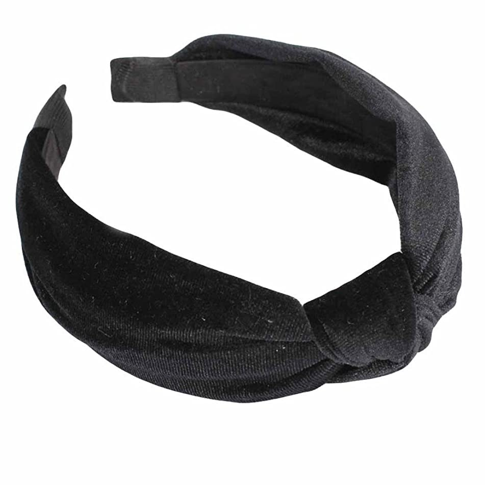 Womens Bow Knot Headband,TIFENNY Twist Cross Tie Velvet Headwrap Hair Band Hoop,Clearance! (Black)