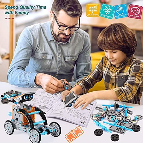 Lucky Doug 12-in-1 STEM Solar Robot Kit Toys Gifts for Kids 8 9 10 11 12 13 Years Old, Educational Building Science Experiment Set Gifts for Kids Boys Girls