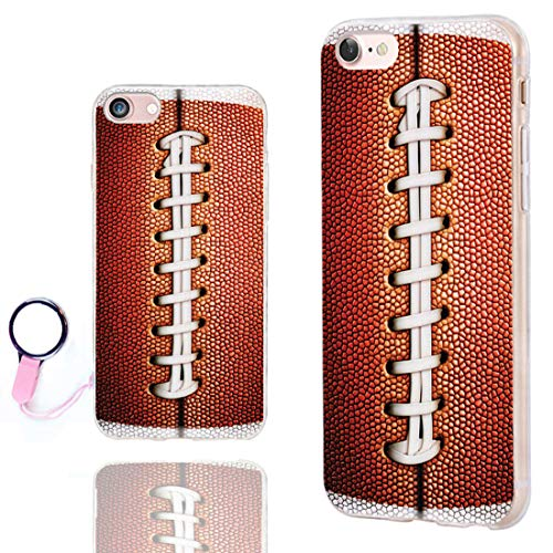 ChiChiC iPhone SE 2020 Case,iPhone 8 Case Cute,iPhone 7 Case Cool, Slim Flexible Soft TPU Rubber Protective Cases Cover for Apple iPhone 7 8 SE 2020 4.7 Inch,Funny Sports Design Brown Football