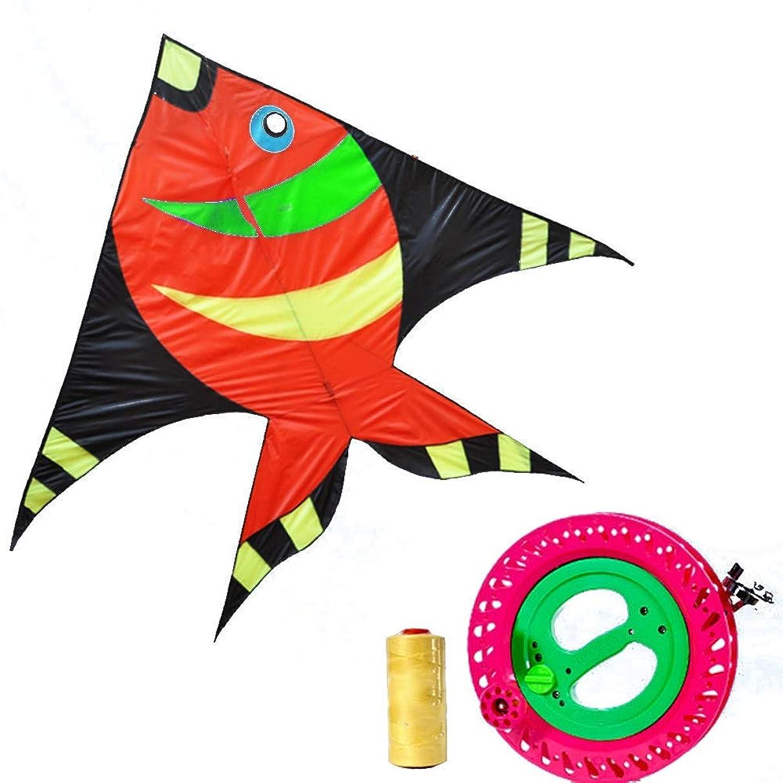 Kite,Flying Spring Toy Adult Large Children's Breeze Flying Kites, Professional Beginner Kites (with Reel) Kite line Wheel Puller Multi-Style Optional (Color : E)
