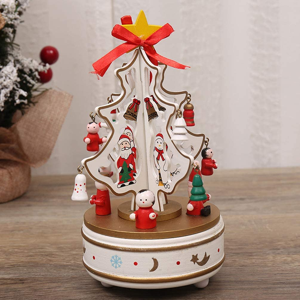NUOBESTY Creative Musical Box Craft Festival Gift Musical Box Book Desktop Decoration Melody Box Home Ornament Red