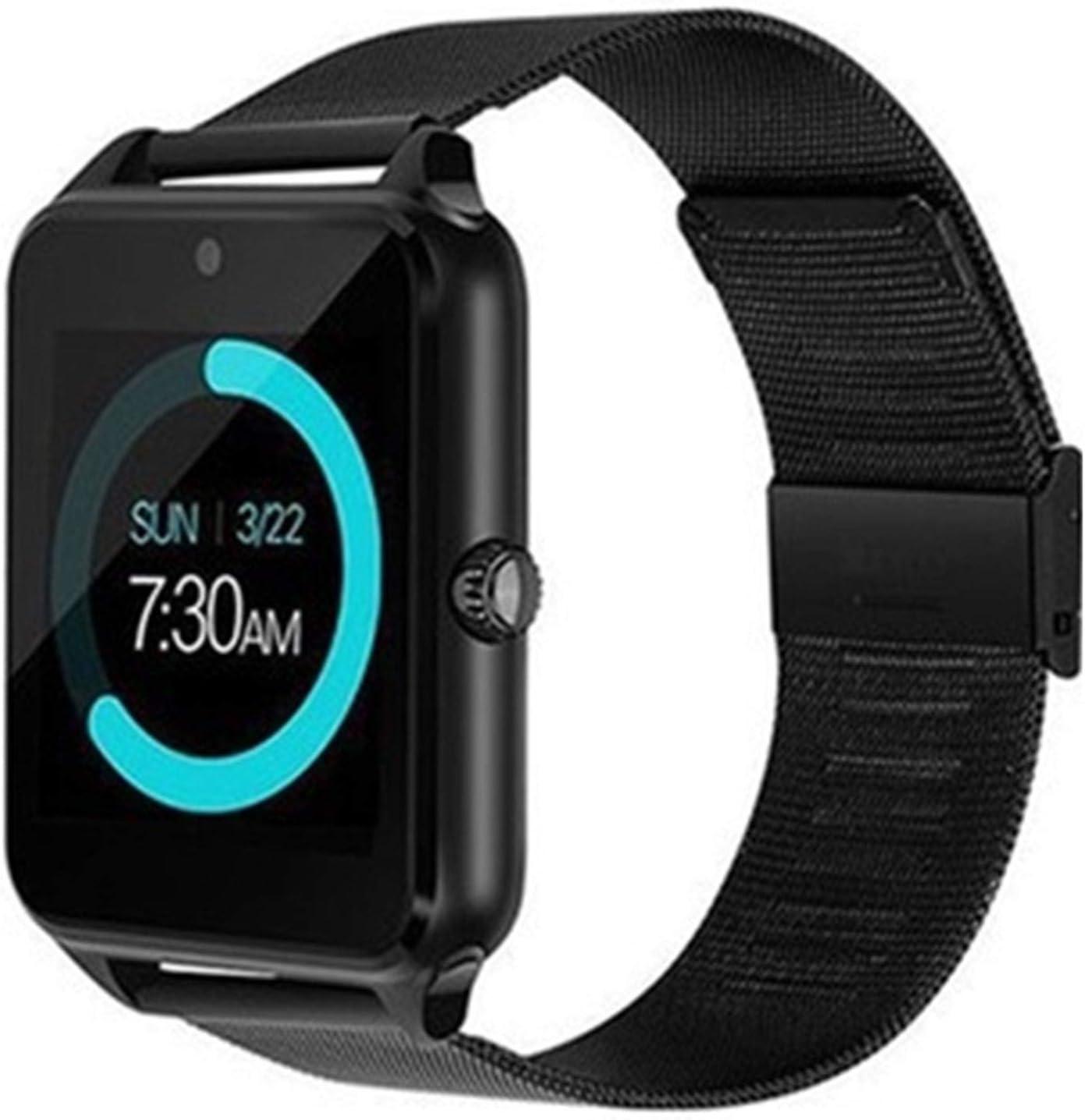 Wsaman Pulsera de Actividad Inteligente Reloj,Podómetro Pulsera Deportiva,Monitor de Sueño, para Niños y Niñas,Reloj Deportivo,Negro