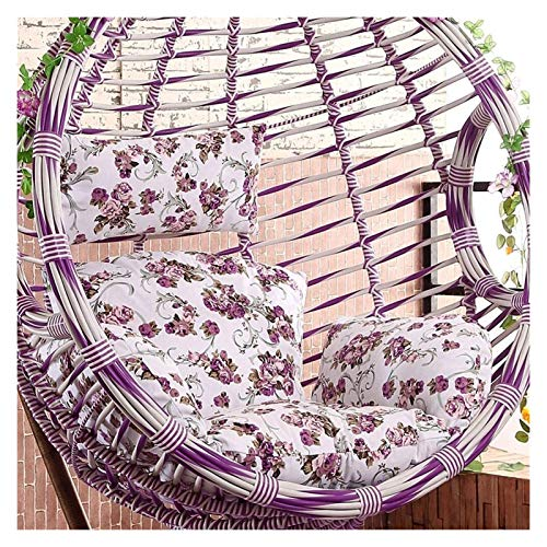 HLZY Outdoor Cushions for Patio Chairs Hanging Egg Chair Cushion, Hanging Garden Patio Outdoor Rattan Swing Chair Cushion Pads Deck Chair Cushions (Color : H)