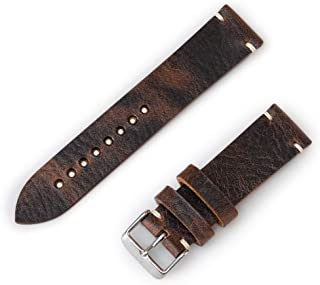 Benchmark Basics Waxed Pull-Up Leather Minimalist Watchband | Handmade in Brooklyn | 20mm & 22mm (Multiple Colors)
