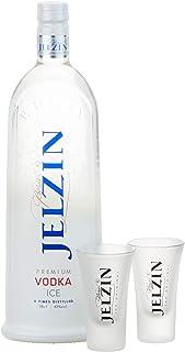 Jelzin Vodka Ice Set mit 2 Gläsern 1 x 0.7 l