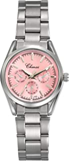 Women's Brcaelet Bangle Watch Crystal Rhinestone Mother of Pearl Dial Pink Japan Quartz Fashion Wrist Watches with Stainless Steel Band