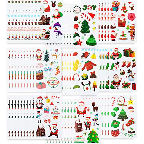 Stickers for Kids, Christmas Stickers for Kids, 90 Sheets of Christmas Themed Stickers Kids Stickers Decals for Gifts Scarpbooking Crafts Decorations