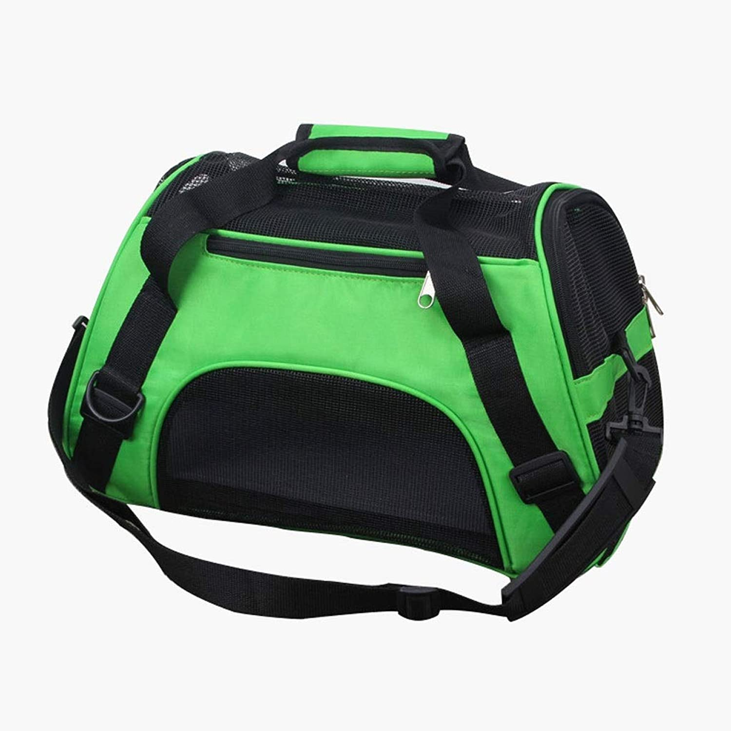 Pet Travel Carrier Pet Backpack Pet Outing Package Cat Bag Aviation pet Box Bag Outgoing Dog Bag Outdoor Travel Pet Supplies (color   Green, Size   M)