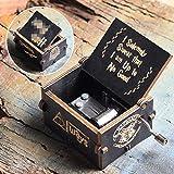 Caja de música Bhu Juego de Tronos de madera antigua manivela azul Pokemon Wars caja de regalo
