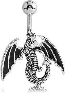 Bauchnabelpiercing Ohrpiercing Gothic Drache Strass Augen BCR Ring