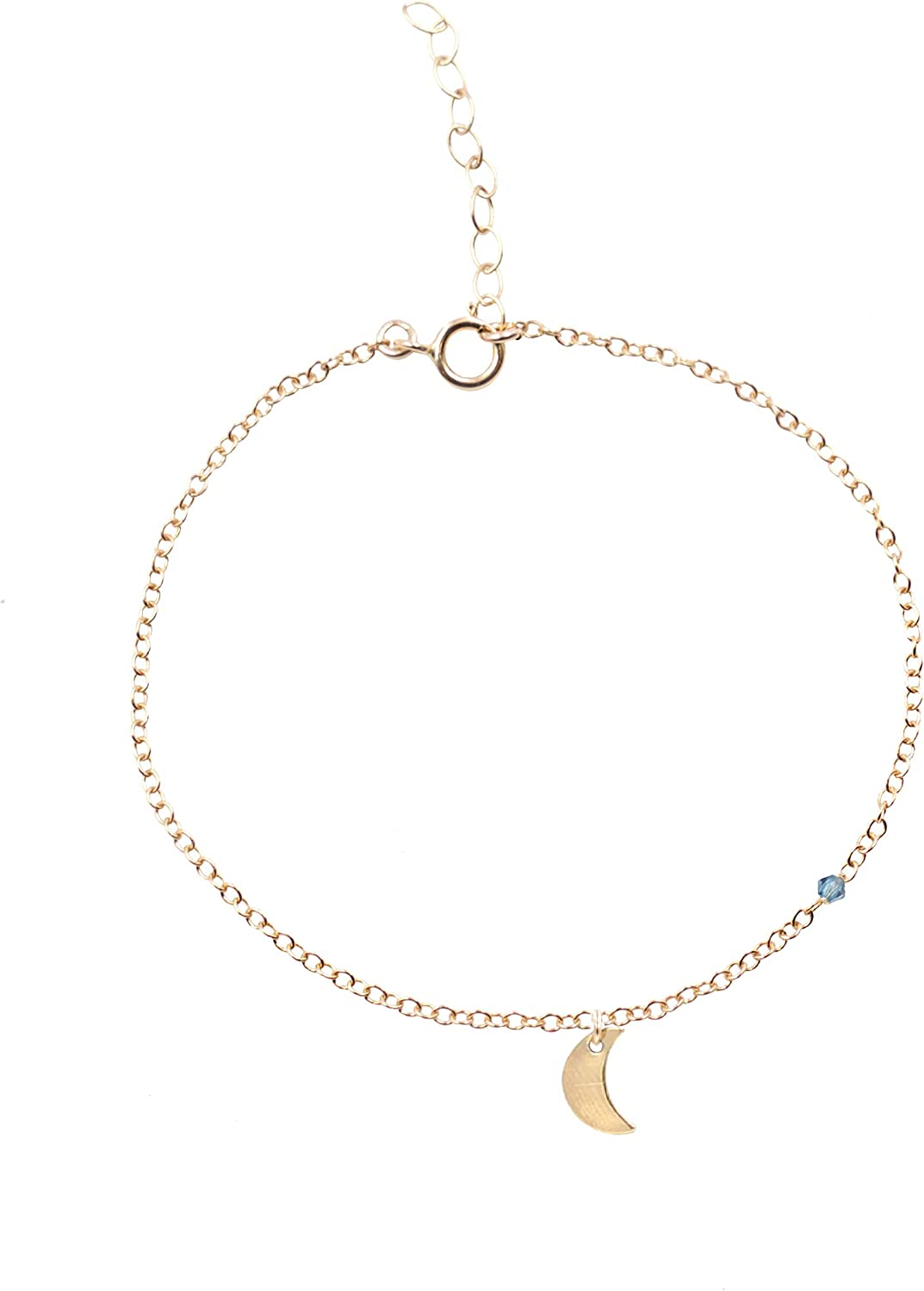 MaeMae 14K Gold Filled Crescent Moon I Love You to The Moon and