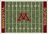 ミネソタ・ゴールデンゴーファーズ 5 4 x 7 8インチ NCAA ホームフィールドエリアラグ